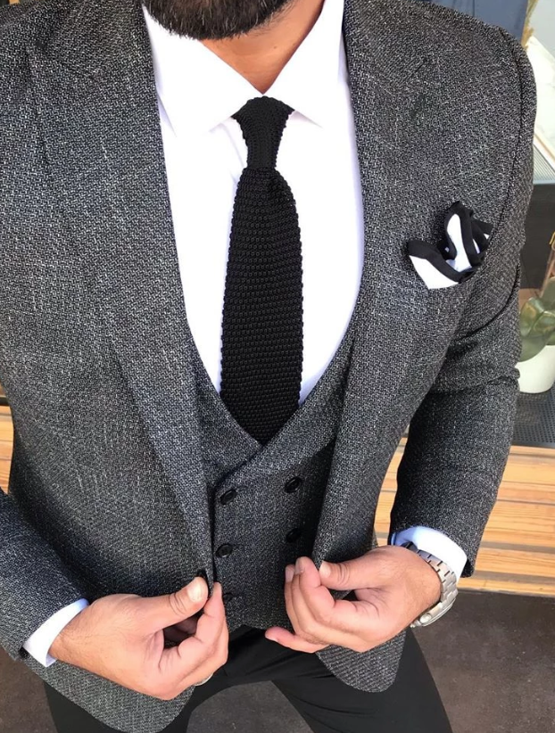 Black Tie and Dual Colour Pocket Square
