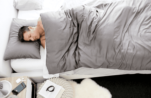 grey bamboo weighted blanket