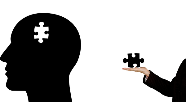illustration of a brain with a missing puzzle.