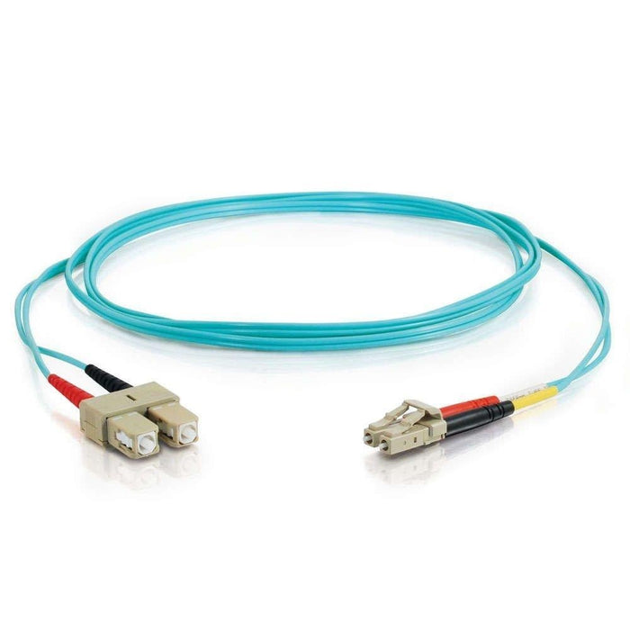 C2G 30m, LC - SC 30m LC SC Blue fiber optic cable (01134) - V&L Canada
