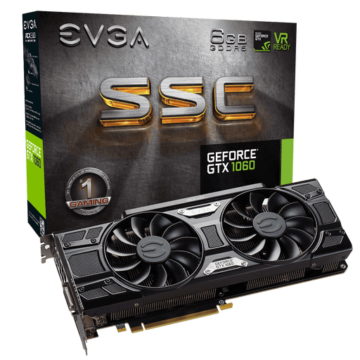 EVGA GeForce GTX 1060 SSC GAMING, 06G-P4-6267-KR, 6GB GDDR5, ACX 3.0 & LED - V&L Canada