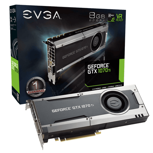 EVGA GeForce GTX 1070 Ti GAMING, 08G-P4-5670-KR, 8GB GDDR5 - V&L Canada