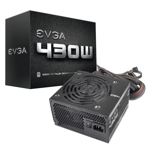 EVGA 430 W1, 80+ WHITE 430W, 3 Year Warranty, Power Supply 100-W1-0430-KR - V&L Canada