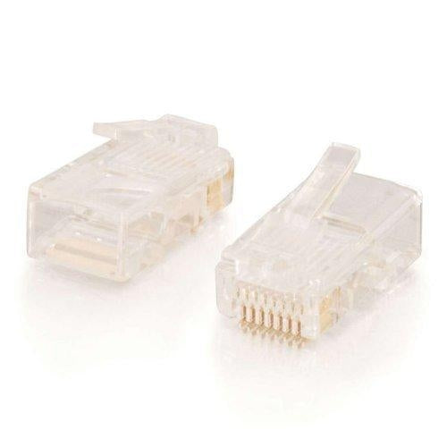 C2G RJ45 Cat5 Modular Plug for Round Stranded Cable 50pk RJ45 cable interface/gender adapter (11380) - V&L Canada