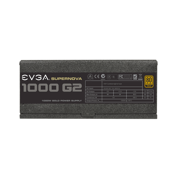 EVGA SuperNOVA 1000 G2, 80+ GOLD 1000W, Fully Modular, 10 Year Warranty, Includes FREE Power On Self Tester Power Supply 120-G2-1000-XR - V&L Canada