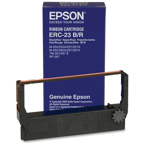 Epson ERC-23BR Black/Red Fabric Ribbon Cartridge for M-260 Series