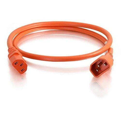 C2G 17554 1.8m  6ft  C14 coupler C13 coupler Orange power cable - V&L Canada