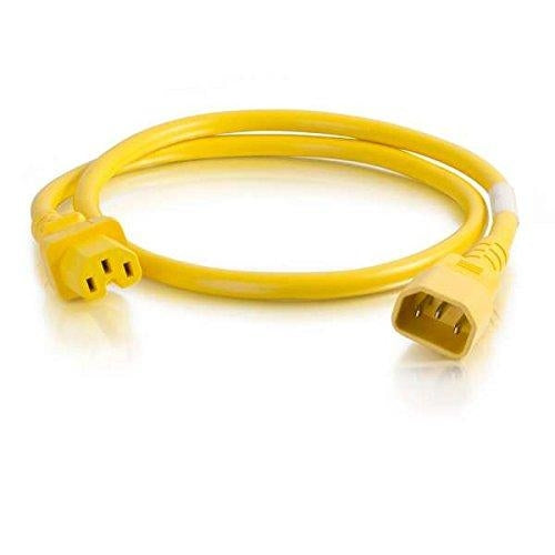 C2G 17556 1.8m 6ft  C14 coupler C13 coupler Yellow power cable - V&L Canada
