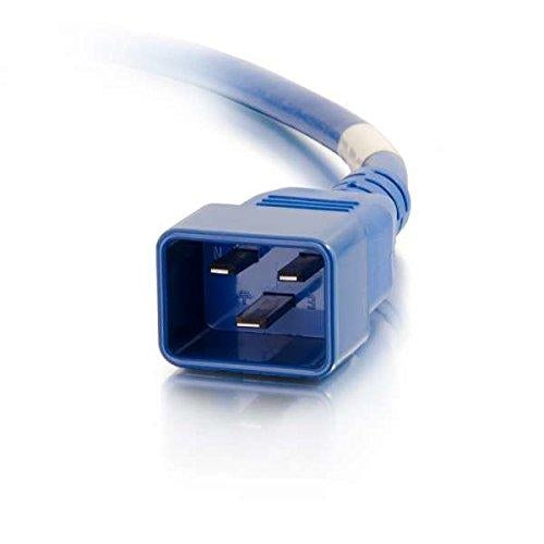 C2G 5ft, IEC320C20/IEC320C19 1.5m C20 coupler C19 coupler Blue power cable (17732) - V&L Canada