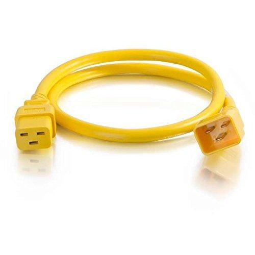 C2G 6ft, IEC320C20/IEC320C19 1.8m C20 coupler C19 coupler Yellow power cable (17742) - V&L Canada