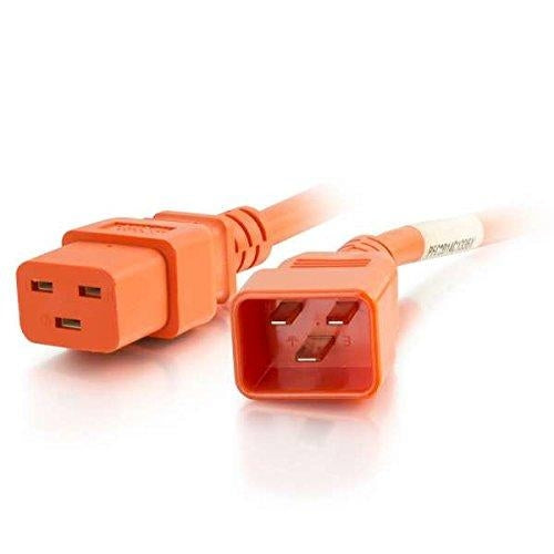 C2G 8ft, IEC320C20/IEC320C19 2.4m C20 coupler C19 coupler Orange power cable (17746) - V&L Canada