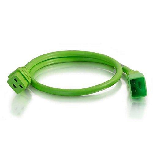 C2G 10ft, IEC320C20/IEC320C19 3m C20 coupler C19 coupler Green power cable (17753) - V&L Canada
