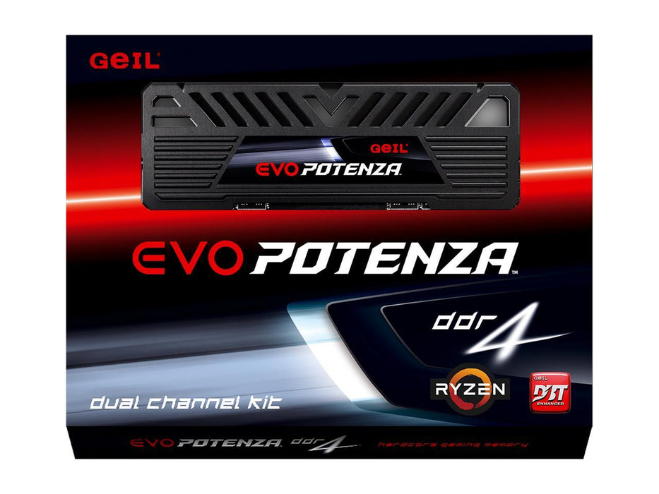 Geil Evo Potenza Amd 16GB (2 X 8GB) 288-PIN DDR4 Sdram DDR4 3200 (PC4 25600) Desktop Memory Model (GAPB416GB3200C16ADC)