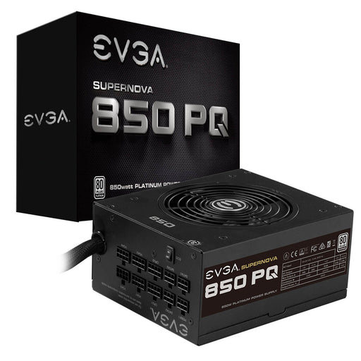 EVGA SuperNOVA 850 PQ, 80 Plus PLATINUM 850W, Semi Modular, EVGA ECO Mode, 10 Year Warranty, Power Supply 210-PQ-0850-X1