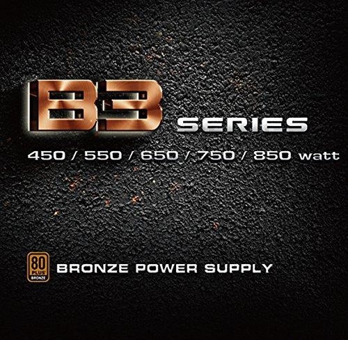 EVGA 650 B3, 80+ BRONZE 650W, Fully Modular, EVGA ECO Mode, 5 Year Warranty, Compact 150mm Size, Power Supply 220-B3-0650-V1