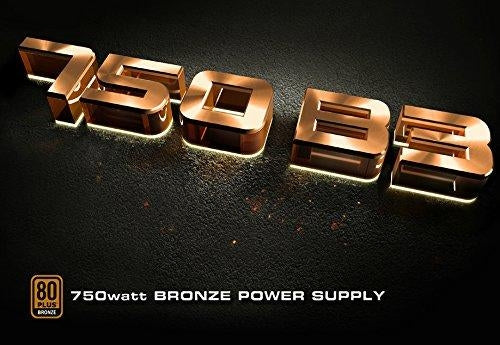 eVGA Power Supply 220-B3-0750-V1 BRONZE 750W +12V 150mm Fan 80 Plus ATX Retail