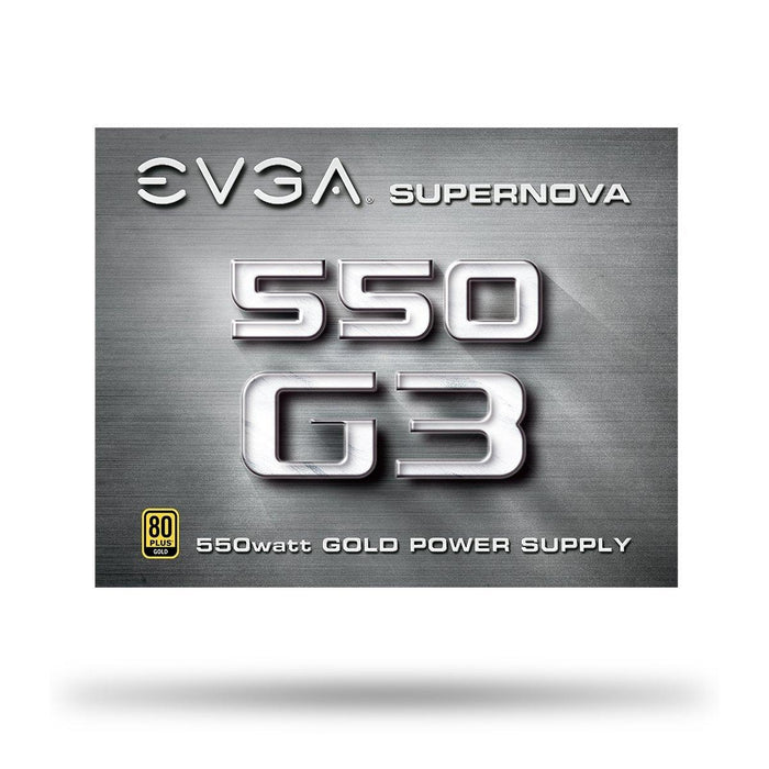 EVGA SuperNOVA 550 G3, 80+ GOLD 550W, Includes Power ON Self Tester, Power Supply (220-G3-0550-Y1)