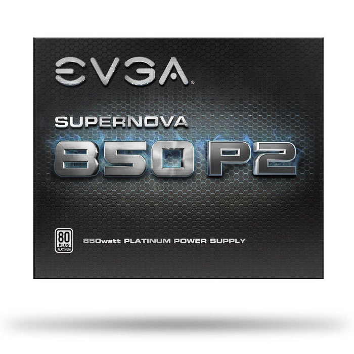 EVGA SuperNOVA 850 P2, 80+ PLATINUM 850W , Fully Modular , EVGA ECO Mode, 10 Year Warranty , Includes FREE Power On Self Tester, Power Supply 220-P2-0850-X1