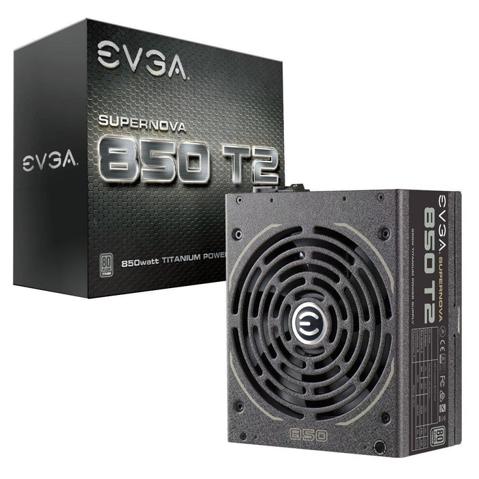 EVGA SuperNOVA 850 T2, 80+ TITANIUM 850W, Fully Modular, EVGA ECO Mode, 10 Year Warranty , Includes FREE Power On Self Tester, Power Supply 220-T2-0850-X1