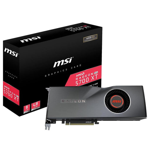 MSI Gaming Radeon RX 5700 XT 8GB GDDR6 1905 MHz Boost Clock, 14 Gbps Memory Speed PCI-e, 3x DP1.4, HDMI Single Fan, VR Ready OC Navi Architecture Graphics Card