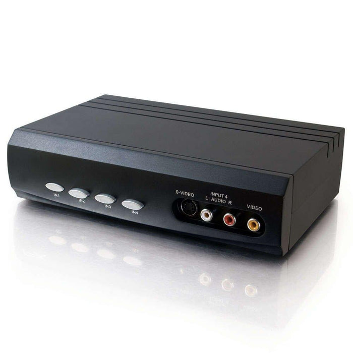 C2G 4x2 S-Video + Composite Video + Stereo Audio Selector Switch video switch (28750) - V&L Canada