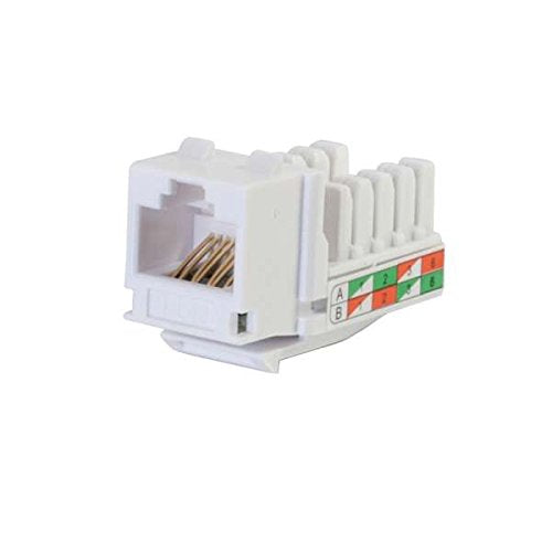 C2G 29311 Cat6 RJ45 Unshielded Keystone Jack, White