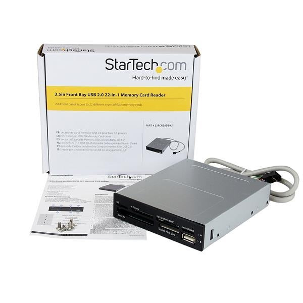 StarTech.com USB 2.0 Internal Multi-Card Reader / Writer - SD microSD CF 35FCREADBK3 - V&L Canada