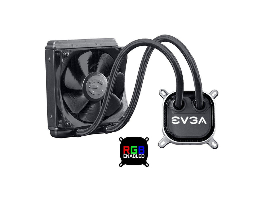 EVGA CLC 120 Liquid / Water CPU Cooler RGB LED Cooling 400-HY-CL12-V1
