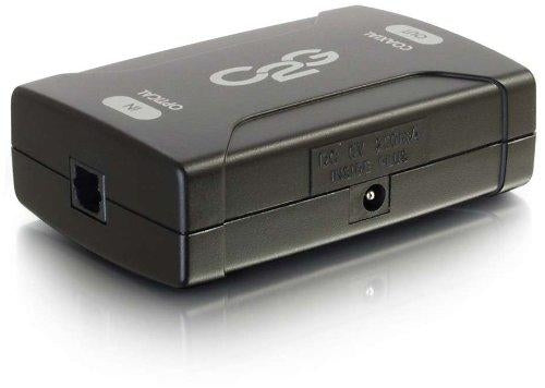 C2G Optical to Coaxial Digital Audio Converter Toslink S/PDIF Black cable interface/gender adapter (40019) - V&L Canada