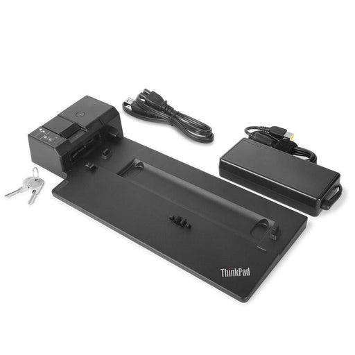 Lenovo ThinkPad Ultra Docking Station (US) - 4x USB 3.1 Gen2 (10Gbps), 2x USB-C, 10/1000 Gigabit Ethernet, 2x DisplayPort, 1x HDMI, 1x VGA, Kensington Lock Slot - 40AJ0135US