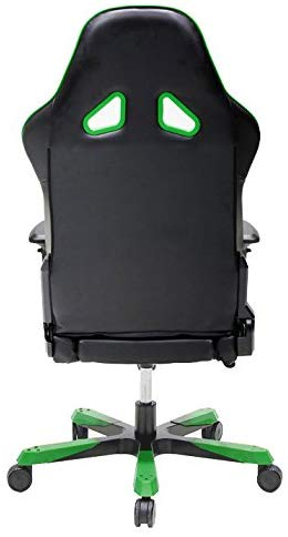 DXRacer OH/TS29/NE Tank Series Black and Green Gaming Chair - Includes 2 Free Cushions and on Frame