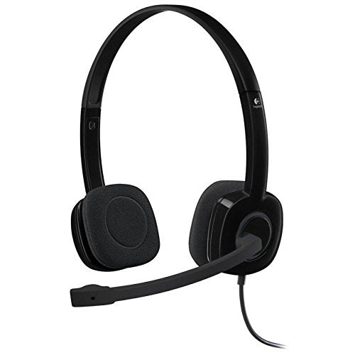 Logitech 3.5 mm Analog Stereo Headset H151 with Boom Microphone (981-000587)