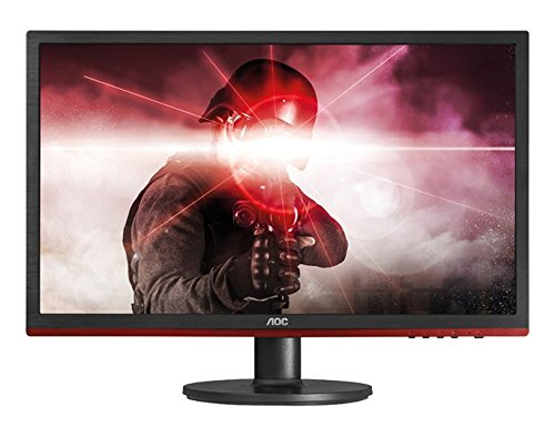 "AOC G2460VQ6 24"" Gaming Monitor, FreeSync, FHD (1920x1080), TN Panel, 75Hz, 1ms, DisplayPort, HDMI, Black / Red"