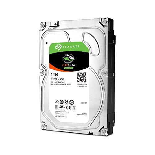 Seagate FireCuda 1TB Solid State Hybrid Drive Performance SSHD – 3.5 Inch SATA 6Gb/s Flash Accelerated 64MB Cache for Gaming PC Laptop (ST1000DX002)