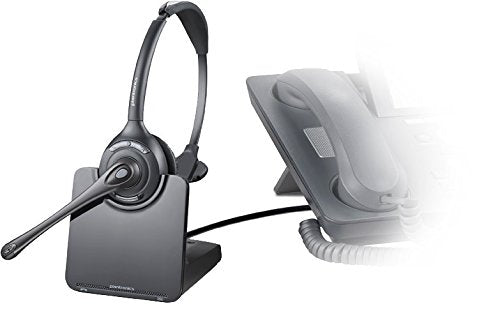 Plantronics CS510 Headset-Mono-Silver-Wireless-DECT-300 ft-Over-the-head-Monaural-Semi-open-Noise Cancelling Microphone - 84691-01