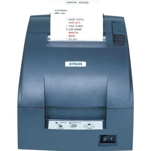 Epson TM-U220B, Impact, two-color printing, 6 lps, Serial interface, Auto-cutter & power supply, Dark gray (C31C514653)