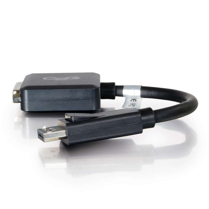 C2G 54321 DisplayPort Male to Single Link DVI-D Female Adapter Converter, TAA Compliant, Black (8 Inches)