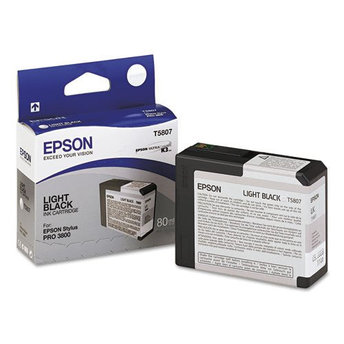 Epson T5807 UltraChrome K3 Light Black Cartridge Ink (T580700)