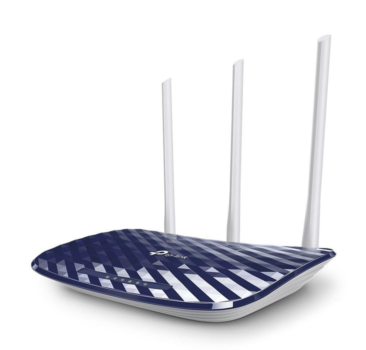 TP-Link Archer C20 AC750 Wireless Dual Band Router, 2.4GHz 300Mbps + 5GHz 433Mbps, 3 External Antennas