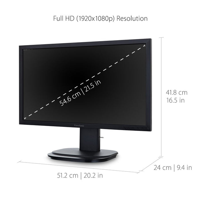 ViewSonic VG2249 22 Inch 1080p Ergonomic LED Monitor with HDMI DisplayPort and DaisyChain for Home and Office