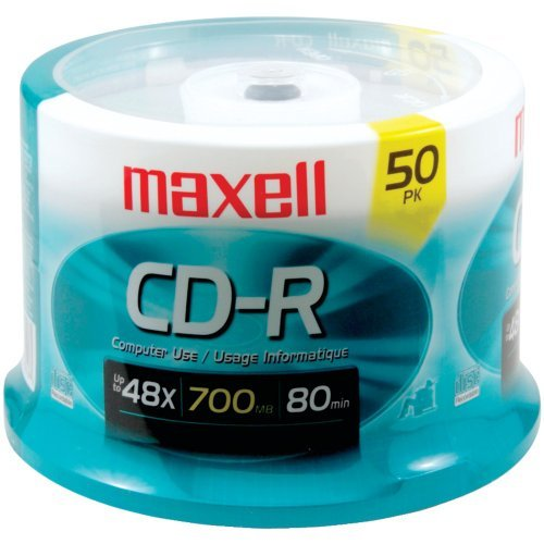 Maxell 623251/648250 80-Minute/700 Mb Cd-Rs (50-Ct Spindle) by Maxell