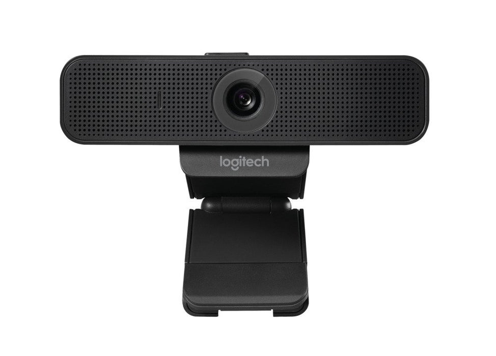 LOGITECH Webcam with HD Video and Built-In Stereo Microphones, black - 960-001075