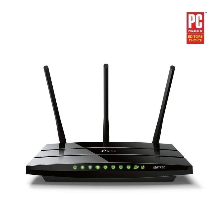 TP-Link Archer C7 AC1750 Dual Band Wireless AC Gigabit Router, 2.4GHz 450Mbps + 5Ghz 1350Mbps, 2 USB 2.0 Ports, IPv6, Guest Network, WPS