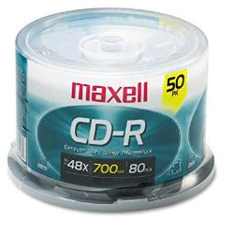700MB, 80-minute, 40X, 5.25 inch CD-R disc, Maxell Branded surface mounted on sp (648250)