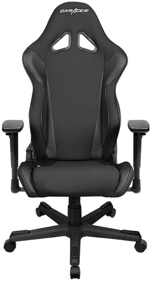 DXRacer Racing Series DOH/RW106/N Newedge Edition Racing Bucket Seat Office Chair Gaming Chair with Pillows(Black)