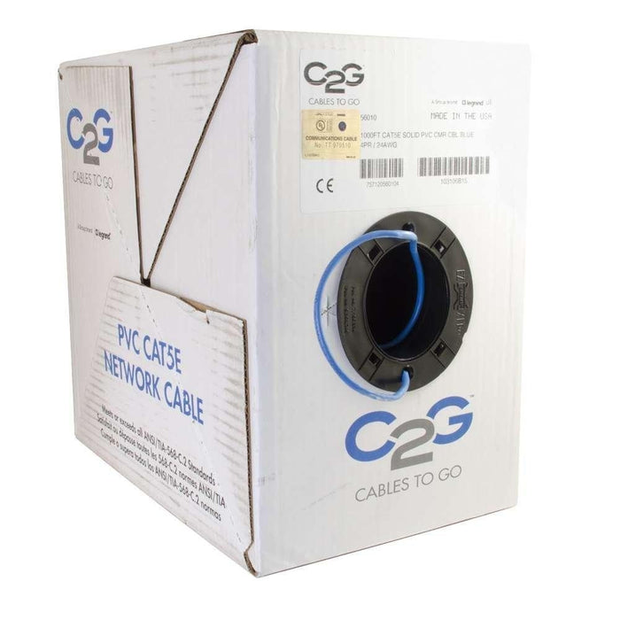 C2G/Cables To Go 56010 Cat5e Bulk Unshielded (UTP) Ethernet Network Cable  1000 Feet - V&L Canada