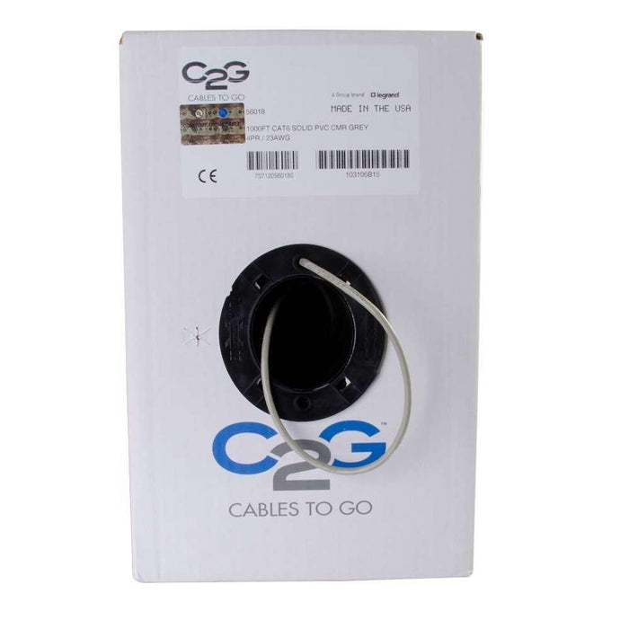 C2G/Cables To Go 56018 Cat6 Bulk Unshielded (UTP) Ethernet Network Cable with Solid Conductors - V&L Canada