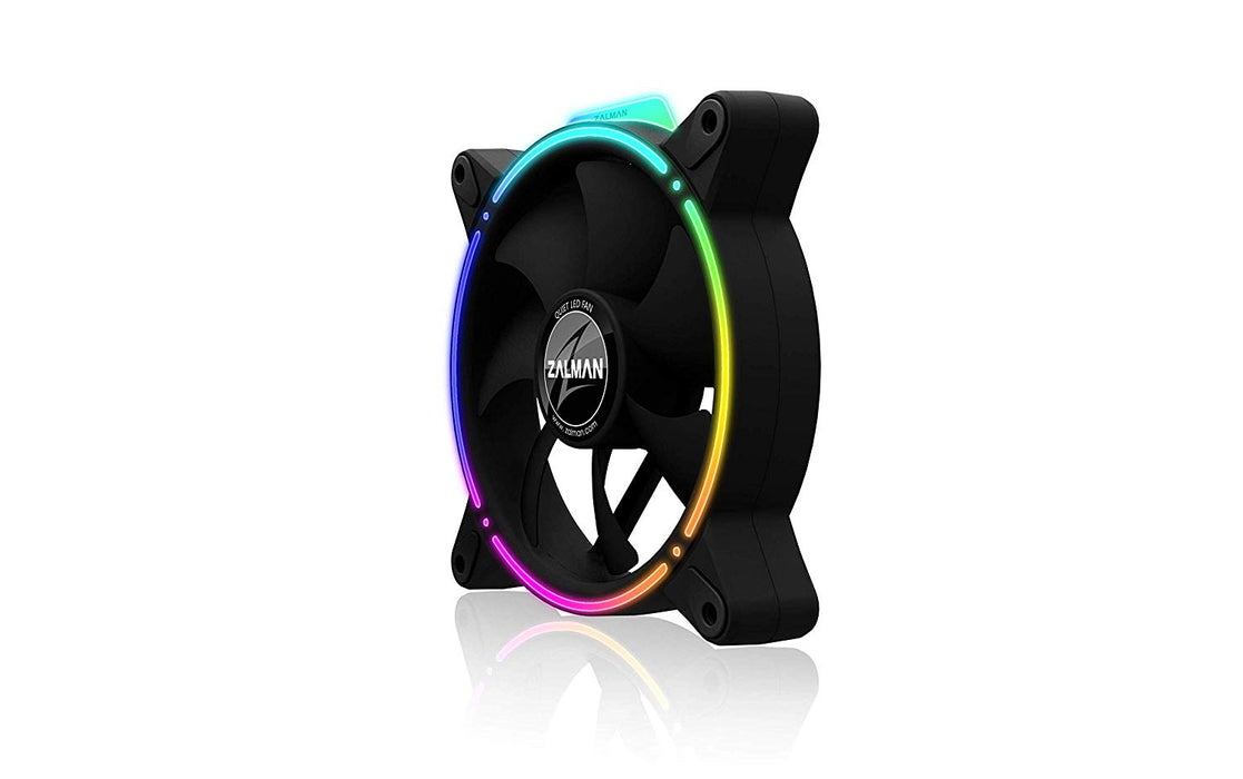 ZALMAN ZM-RFD120 Addressable RGB LED Case Fan, Built-in Anti-Vibration Pads, Front/Rear Double-Spectrum RGB LED Effect