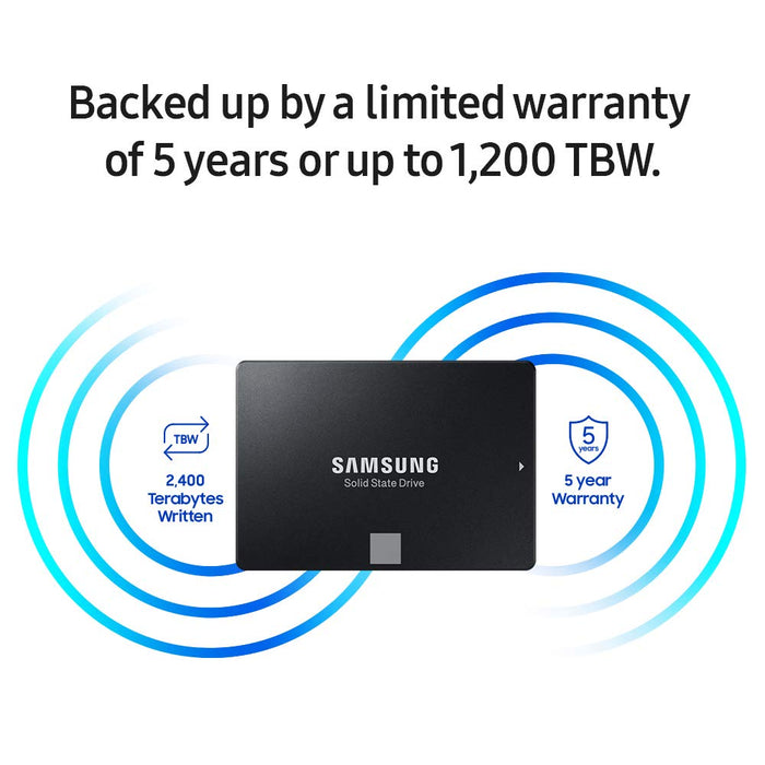 "Samsung 860 EVO 2.5"" SATA III 250GB Internal SSD (MZ-76E250B/AM) [Canada Version]"