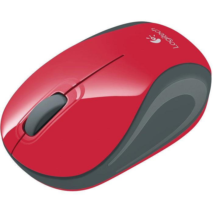 Logitech M187 Wireless Mini Optical Mouse, Red (910-002727)